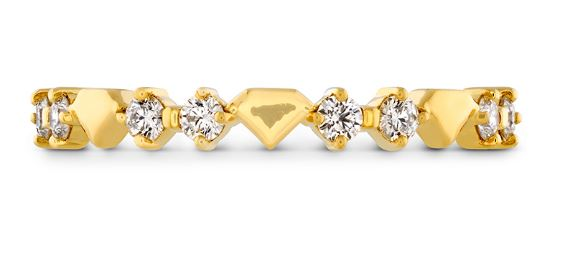 18k Yellow Gold Hayley Paige Behati Bold Shapes Ring by Hearts on Fire by Hearts on Fire