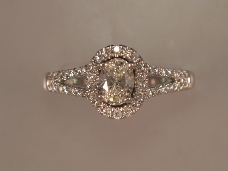 Oval Halo Engagement Ring by Forevermark