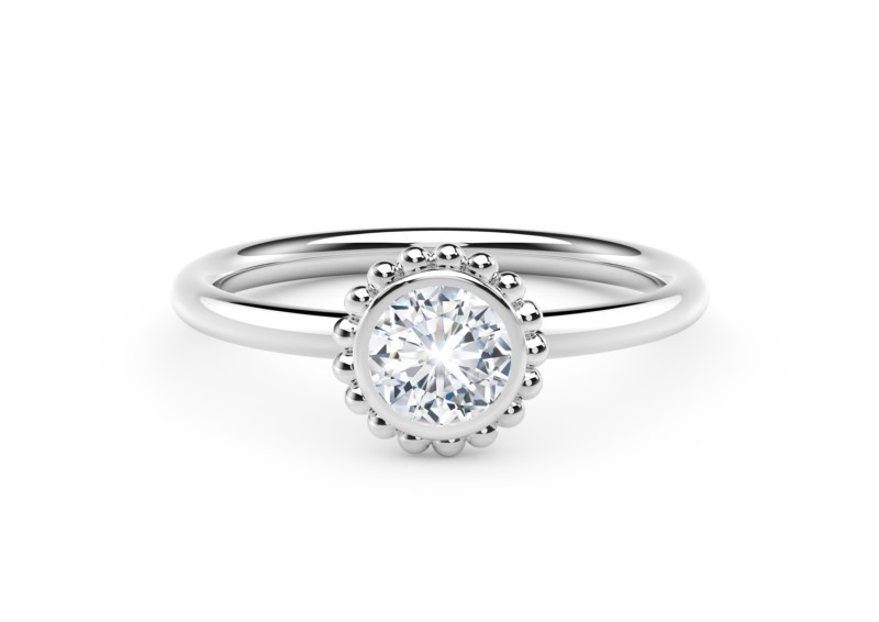 Forevermark Tribute Collection Beaded Diamond Ring by Forevermark