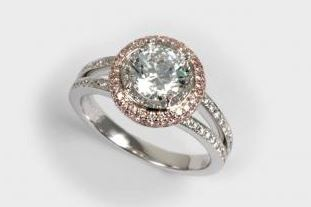 18k  White & Rose Gold Ring Mounting With 112 Diamonds by Orin
