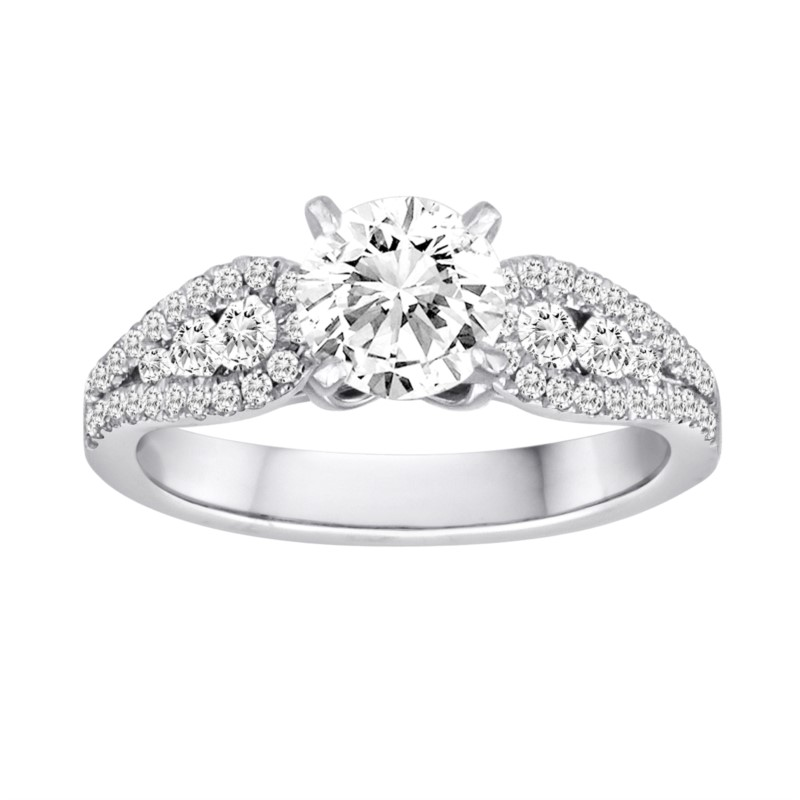 White 18 Karat Ring Mounting With 52 Diamonds by Orin