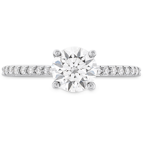 18k White Gold Ring Mounting by hearts on Fire With 20 Diamonds by Hearts on Fire
