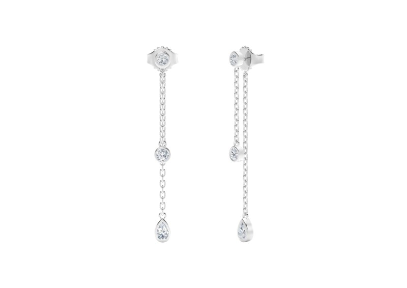 Forevermark Tribute Collection Pear and Round Dangle Earrings by Forevermark