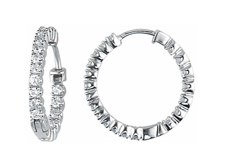 Inside Out Diamond Hoop Earrings by Coast Diamond Jewelry