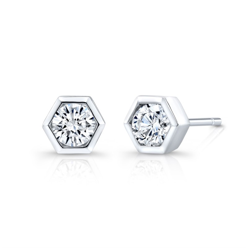 329cd25ab Home · All Jewelry · Earrings · Diamond Stud Earrings; Lady's 18K White Gold  ...