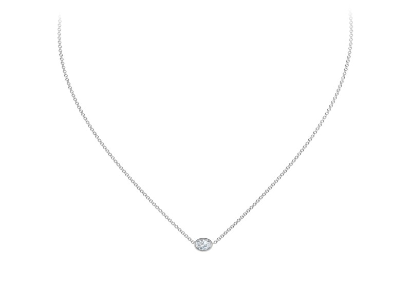 Forevermark Tribute Collection Oval Diamond Necklace by Forevermark