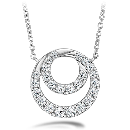 18Kwg  Optima Diamond Circle Pendant By Hearts On Fire With 24 Diamonds by Hearts on Fire
