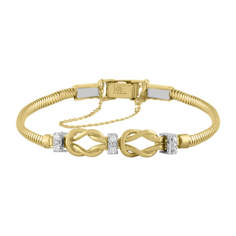 14k Yellow Gold Add-A-Link Bracelet With 6 Diamonds by Kaspar & Esh