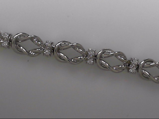14k White Gold Add-A-Link Bracelet With 24 Diamonds by Kaspar & Esh