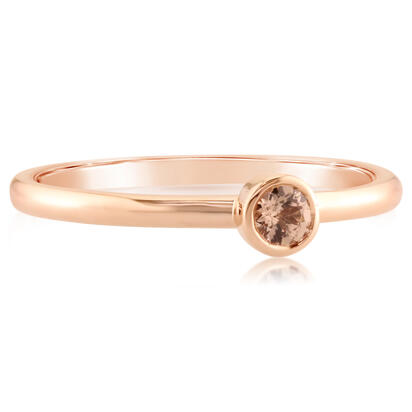 14k Rose Gold Lotus Garnet Ring by Parle
