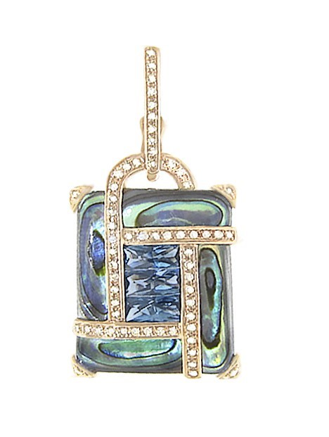 Colored Stone Pendant by Bellarri