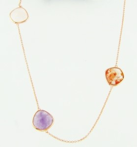 Colored Stone Necklace by Bellarri