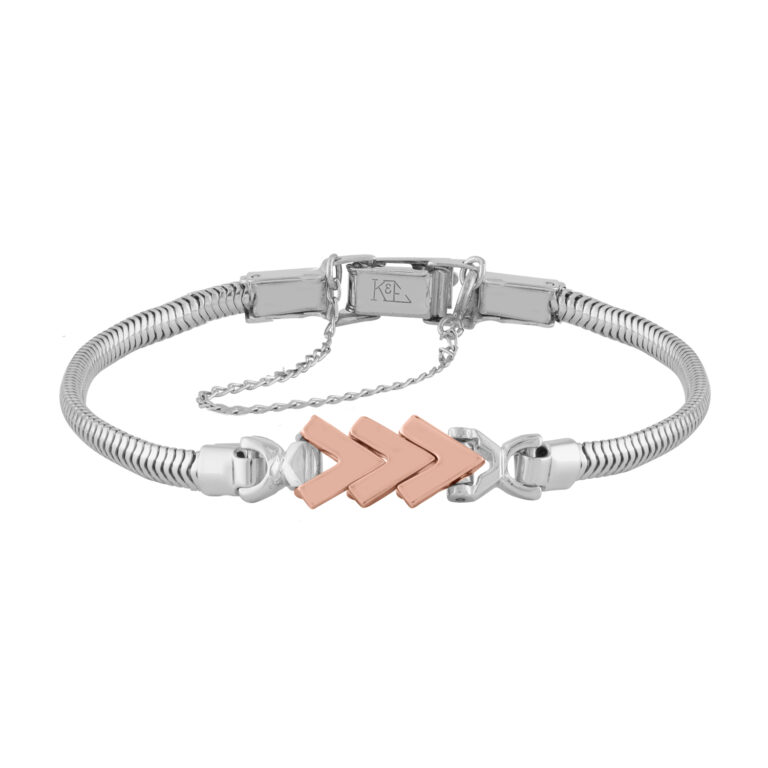 14k Rose Gold Add-A-Link Bracelet With 3 Chevron Links by Kaspar & Esh