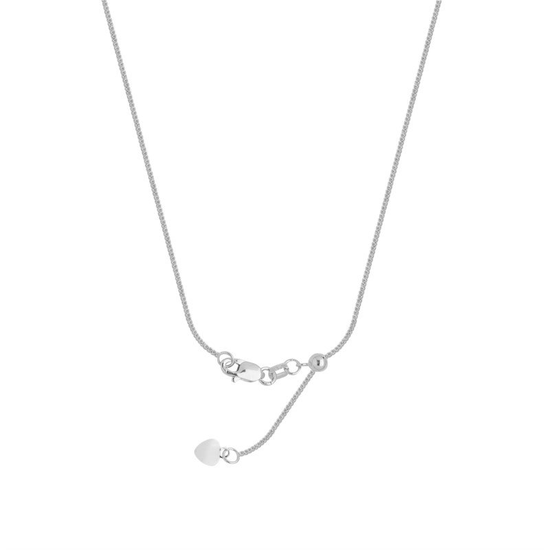 Sterling Silver Adjustable Square Wheat Chain by Graduation Gift Ideas