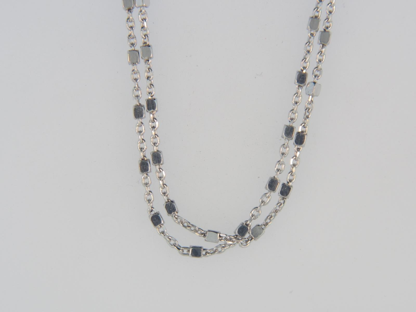 "Sterling Silver 2-Strand STELLA Chain with Lobster Clasp, 24"" Length by Peter Storm"