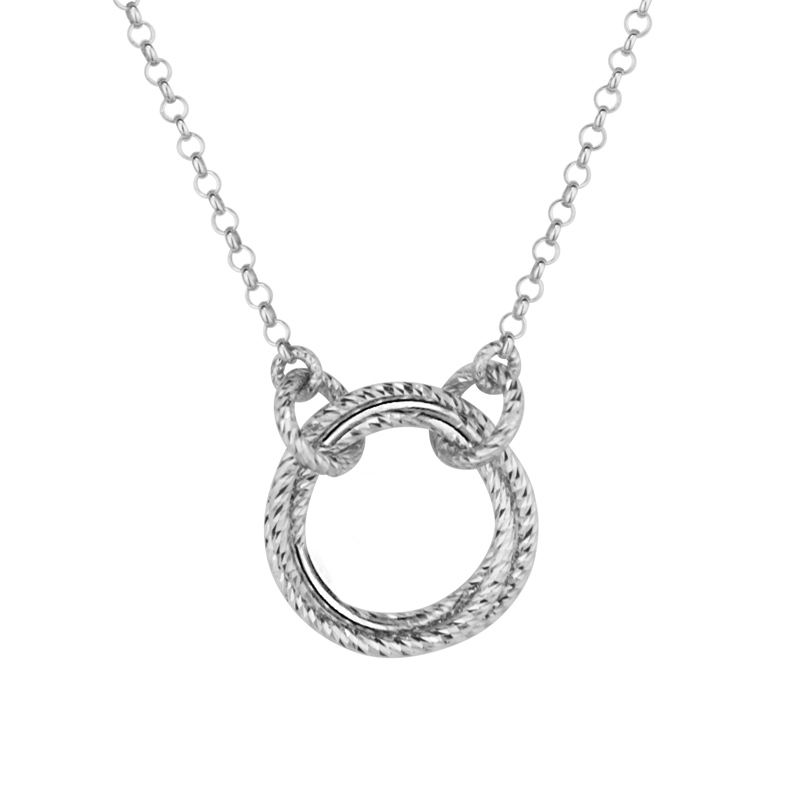 Sterling Silver Single Love Knot Necklace by Frederic Duclos