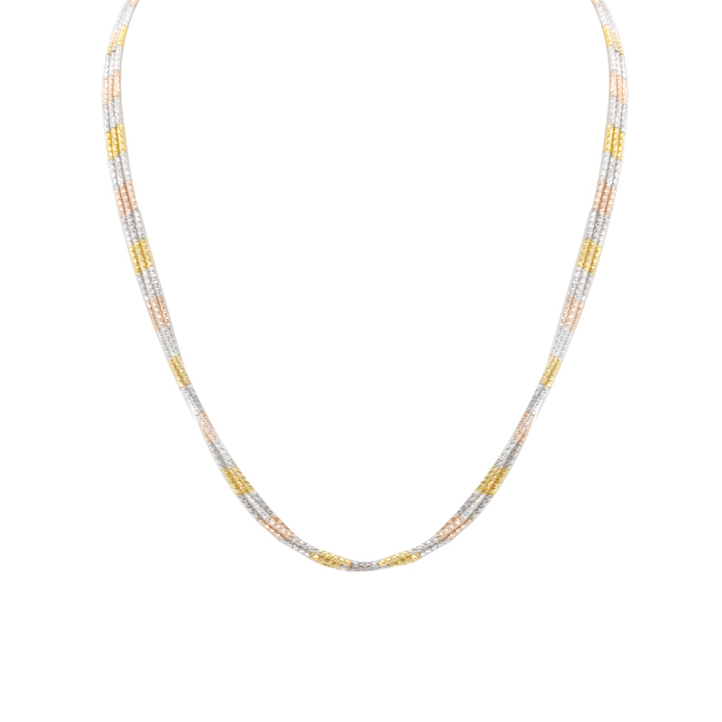 Sterling Silver Yellow And Rose Gold Plated Necklace by Frederic Duclos