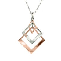 Sterling Silver & Rose Gold Plated Necklace by Frederic Duclos