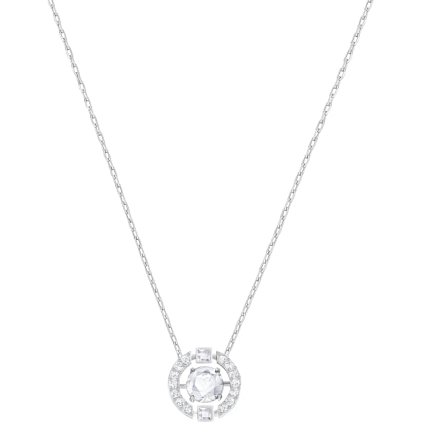 Swarovski Sparkling Dance Round Necklace, White by Swarovski