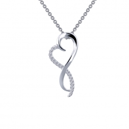 Sterling Silver Infinity Heart Pendant With CZs by Lafonn Jewelry