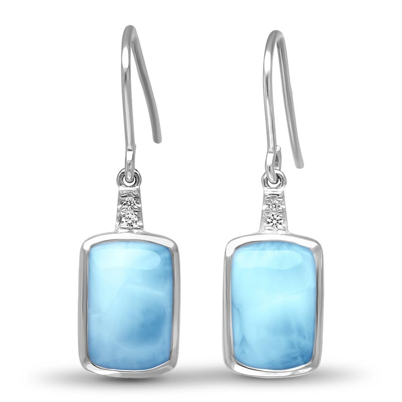 Sterling Silver Larimar Earrings Maris, by Marahlago by Marahlago Larimar
