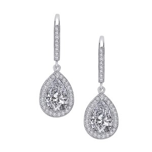 Sterling Silver Earrings With CZ