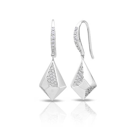 Sterling Silver Prisma Earrings By Belle Etoile by Belle Etoile