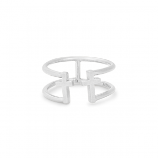 Cross SS Adjustable Ring by Alex and Ani by Alex and Ani