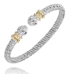 Sterling Silver & 14k Bracelet by Alwand Vahan by Vahan