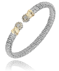 Sterling Silver & 14k Gold Bracelet by Alwand Vahan With 26 Diamonds by Vahan