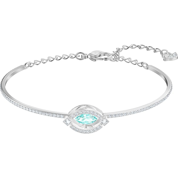 Swarovski Sparkling Dance Bangle, Green by Swarovski