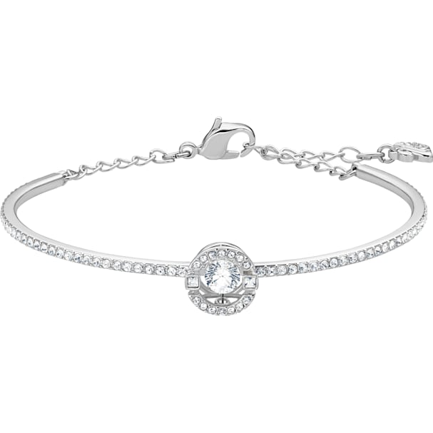 Swarovski Sparkling Dance Bangle, White by Swarovski