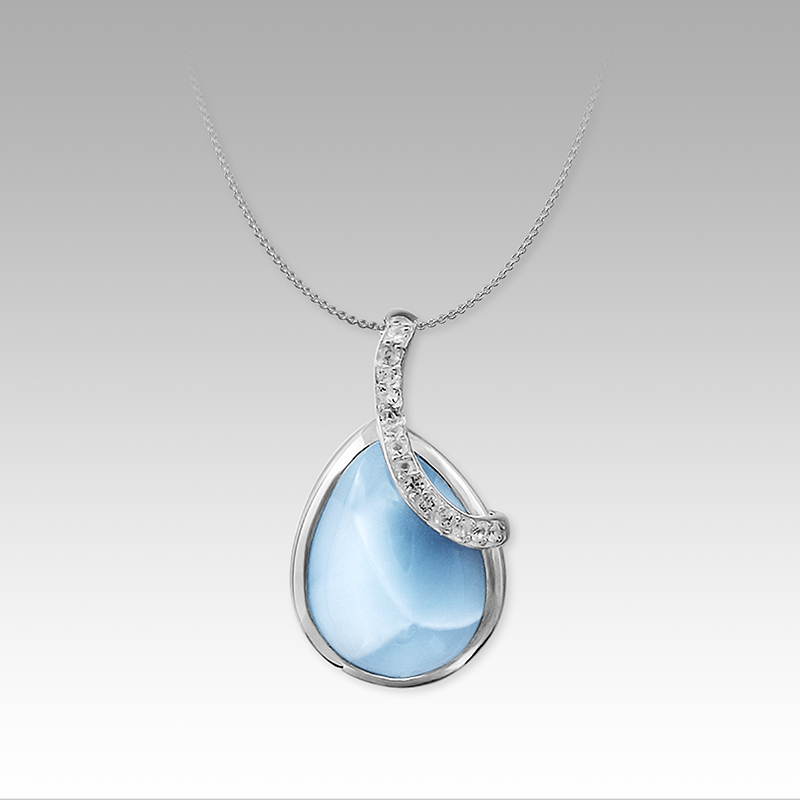 SS/GF Necklace by Marahlago Larimar