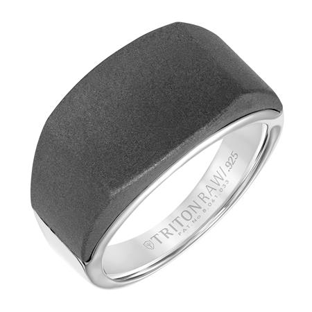Titanium/Tungsten Carbide Wedding Bands by Frederick Goldman