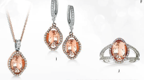 Makur Morganite Necklace Morganite Earrings Morganite Rings
