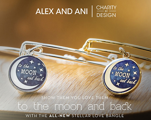 Alex and Ani Stellar Love To the Moon and Back